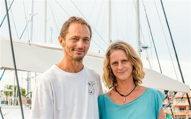 Katherine Tee và người chồng Marc Horn, người cho rằng đã nhìn thấy chiếc MH370 bốc cháy trên bầu trời đêm