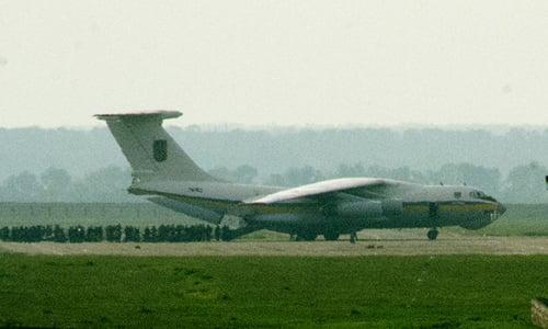 Máy bay quân sự Ukraine chở 49 người bị bắn rơi 4