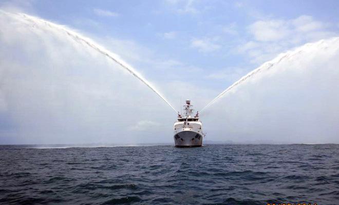 Uy lực vòi rồng của tàu kiểm ngư KN-781 hiện đại nhất Việt Nam 6