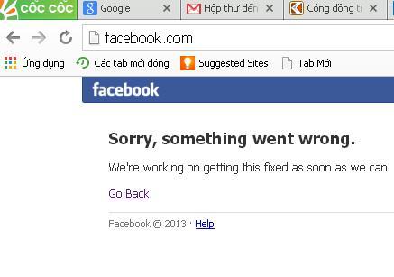 Facebook không truy cập được tại Việt Nam gần nửa tiếng 4