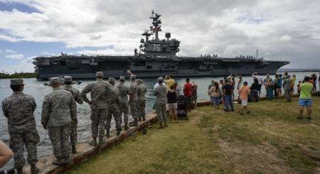 Cận cảnh sức mạnh tàu sân bay Mỹ tham gia tập trận chung RIMPAC 12