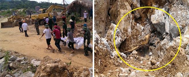 Nổ mìn, đưa thi thể nạn nhân cuối cùng vụ sập mỏ đá ra ngoài  7