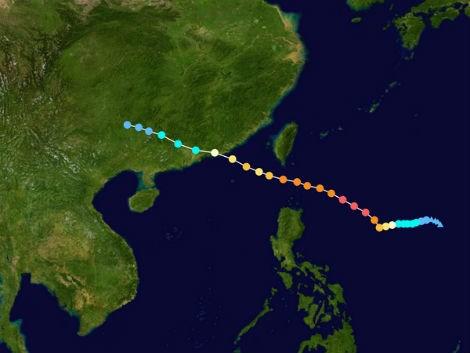 Trung Quốc mở rộng khu cảnh báo bão ra toàn bộ Biển Đông 6