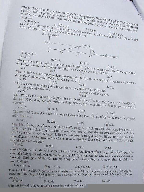 Đã có đề thi đại học môn Hóa khối A năm 2014 4