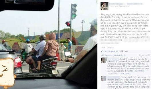 Bức ảnh thanh niên đi xe SH dẫn bà cụ qua đường gây tranh cãi 4