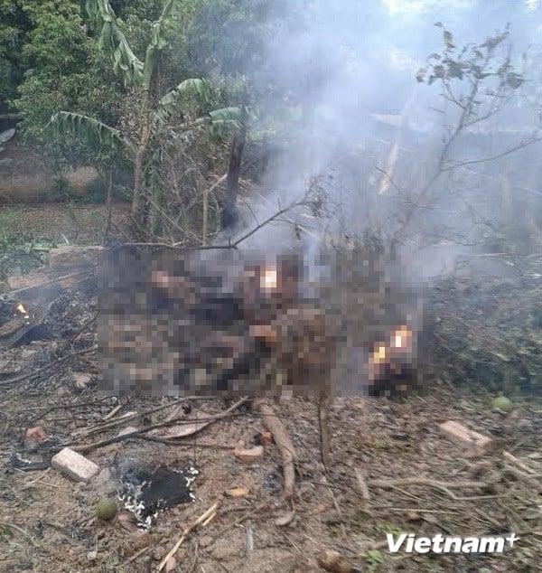 Hiện trường vụ rơi máy bay trực thăng ở Thạch Thất 6