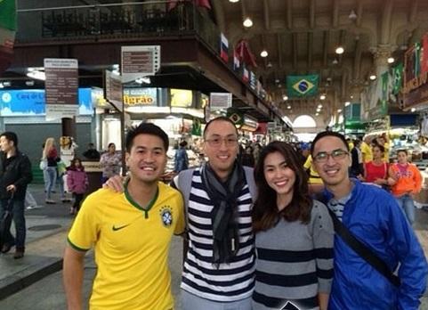 Vợ chồng Hà Tăng chứng minh đẳng cấp đi xem World Cup 2014 6