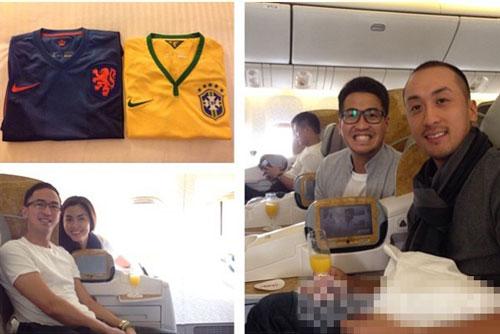 Vợ chồng Hà Tăng chứng minh đẳng cấp đi xem World Cup 2014 8
