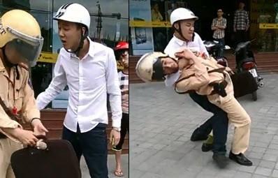 Những vụ cảnh sát giao thông bị hành hung, chống đối 6