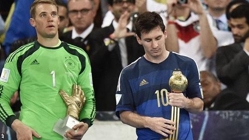 Hình ảnh Chủ tịch FIFA ngạc nhiên vì Messi nhận Quả bóng vàng World Cup 2014 số 1