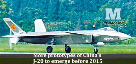 TQ: Nguyên mẫu chiến đấu cơ tàng hình J-20 được tung ra liên tục trước 2015 5
