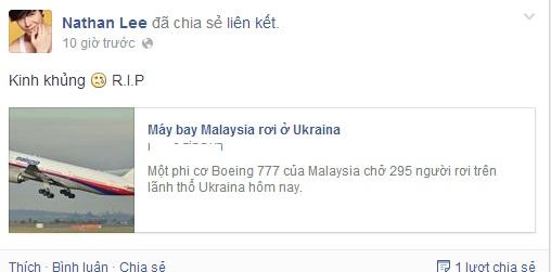 Sao Việt bàng hoàng vụ máy bay Malaysia rơi ở Ukraine  7