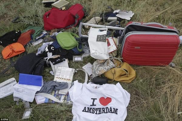 """Đám đông """"hôi của"""" trên người nạn nhân trong chuyến bay MH17"""