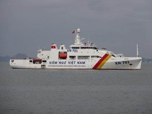 Kiểm ngư Việt Nam tiếp nhận tàu