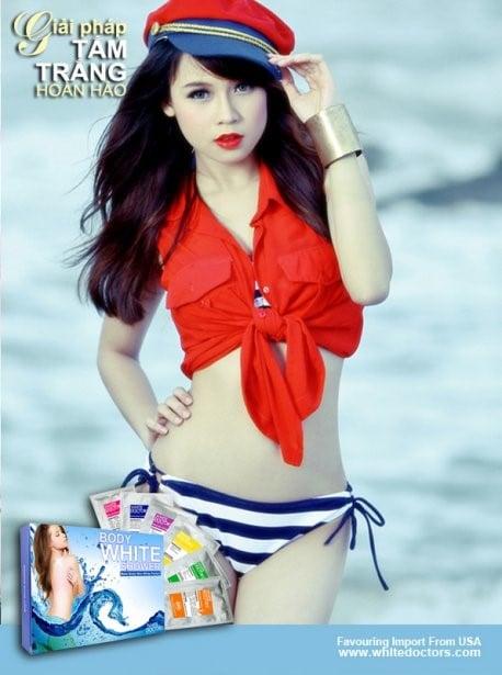 Phương pháp tắm trắng hiệu quả của các hotgirl nổi tiếng 17