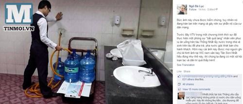 Sốc: Sân bay TSN cho khách hàng uống nước từ toilet? 7