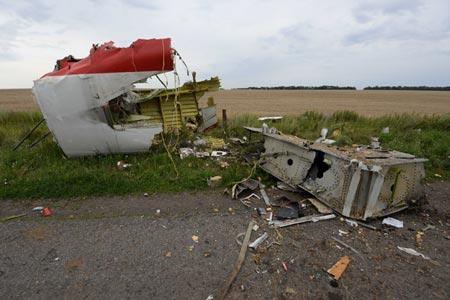 Phát hiện mảnh vỡ MH17 nham nhở lỗ đạn súng máy 6