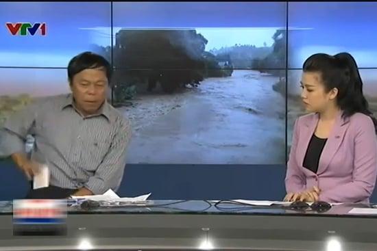 Phóng viên VTV ném điện thoại trong chương trình Chào buổi sáng 7
