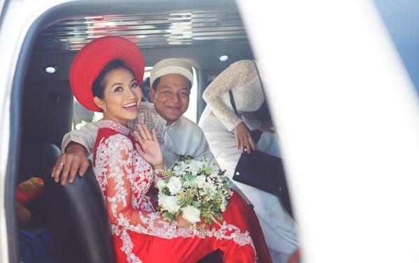 Kim Hiền rạng ngời bên chồng Việt kiều trong lễ rước dâu 11