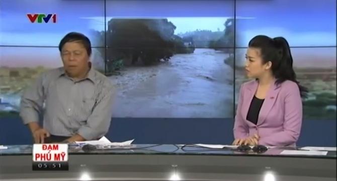 Phóng viên VTV ném điện thoại trong chương trình Chào buổi sáng 6