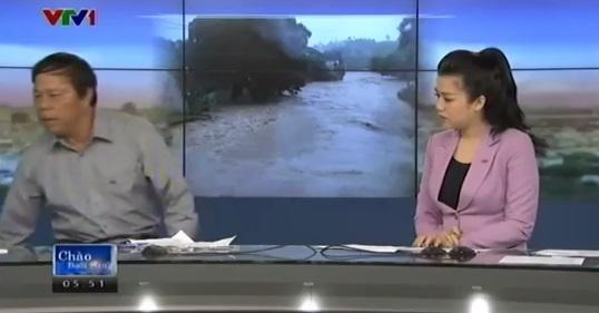 Phóng viên VTV ném điện thoại trong chương trình Chào buổi sáng 8
