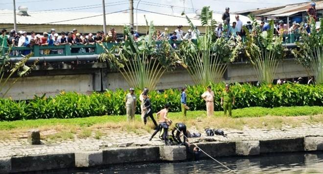 Con nghiện trốn công an, nhảy xuống kênh bị chết đuối 5