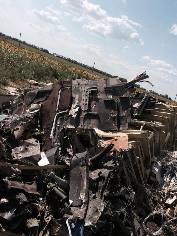 Hình ảnh Phiến quân Ukraine cài mìn tại hiện trường MH17 bị bắn rơi số 1