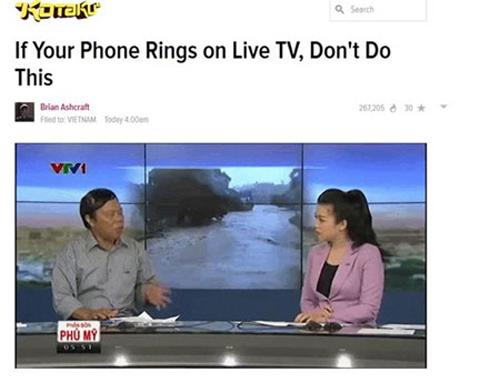 Cảnh ném điện thoại trên truyền hình Việt Nam chấn động thế giới 6