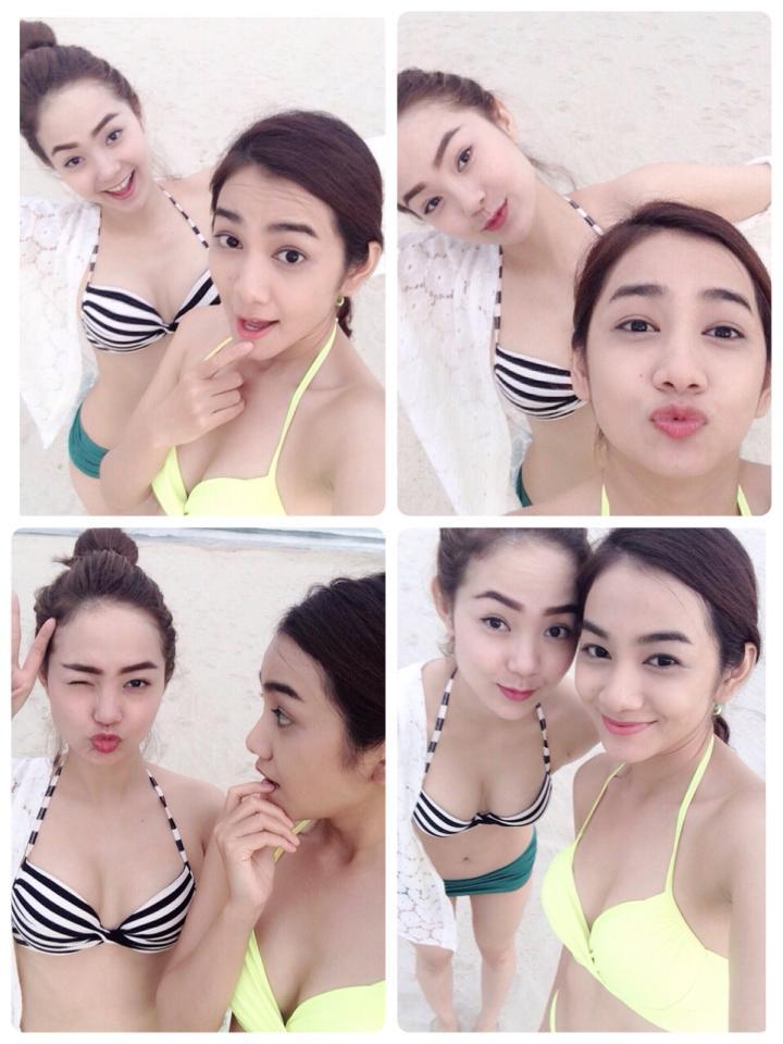 Hình ảnh Minh Hằng khoe mẹ và em dâu xinh đẹp số 1