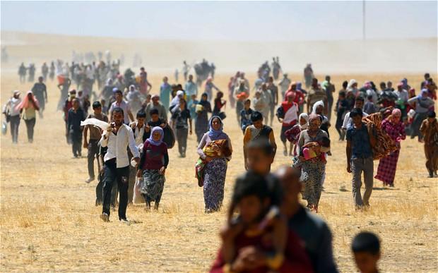 """Khủng hoảng Iraq: Cảnh tượng kinh hoàng tại """"thung lũng chết"""" Sinjar 5"""