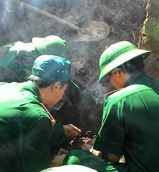 Phát hiện hài cốt liệt sĩ tại nhà đày Lao Bảo 4
