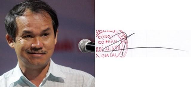 Chữ ký của các doanh nhân giàu có nhất Việt Nam 6