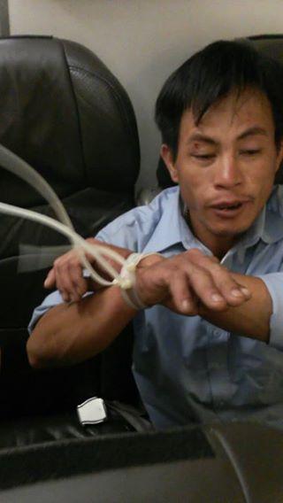 Một hành khách bị trói trên chuyến bay của Vietjet Air 6