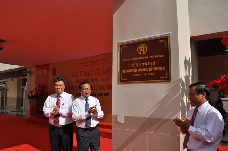 Lãnh đạo TP Hà Nội dự lễ khai giảng năm học mới 7