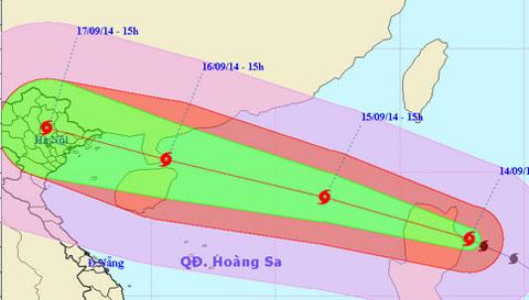 Hình ảnh Bão Kalmaegi giật cấp 17 sẽ vào biển Đông rạng sáng mai số 1