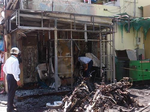 Hỏa hoạn tại phòng giao dịch Vietinbank thiêu rụi nhiều xe máy và buồng ATM  4