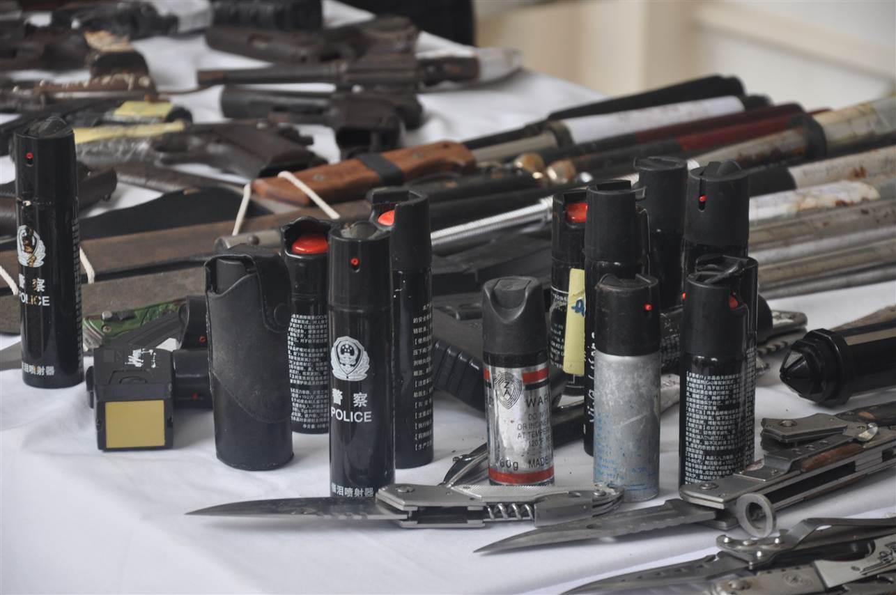 Cận cảnh kho vũ khí giang hồ do lực lượng 141 tịch thu 8