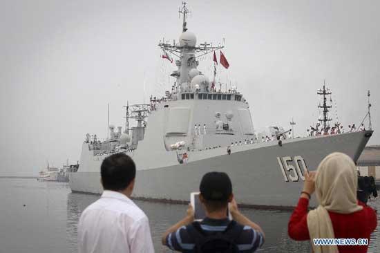 Hình ảnh tàu khu trục Trung Quốc lần đầu tiến vào Vịnh Ba Tư 5
