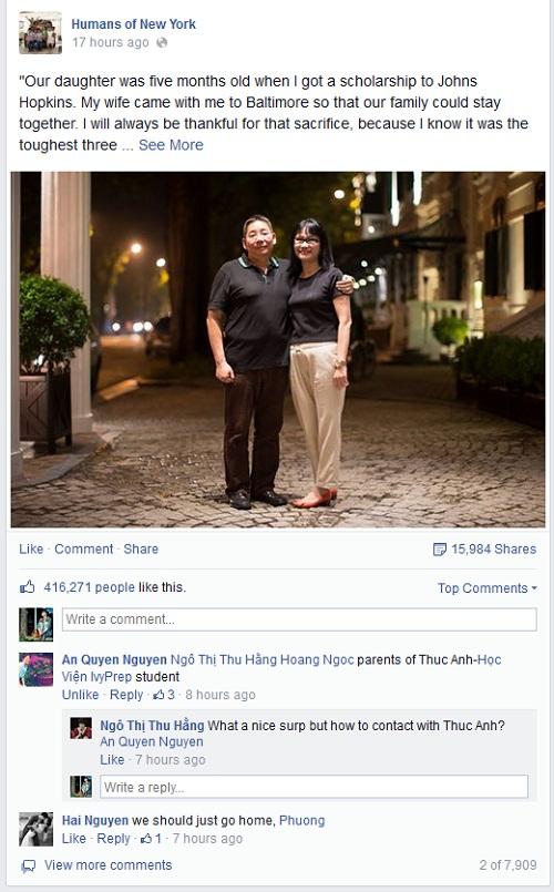 Chuyện tình của vợ chồng Việt hút 400.000 like 5