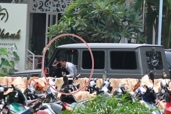 Hình ảnh Cường Đôla lái xế độc đưa Hà Hồ và Subeo đi xem show thiếu nhi số 7