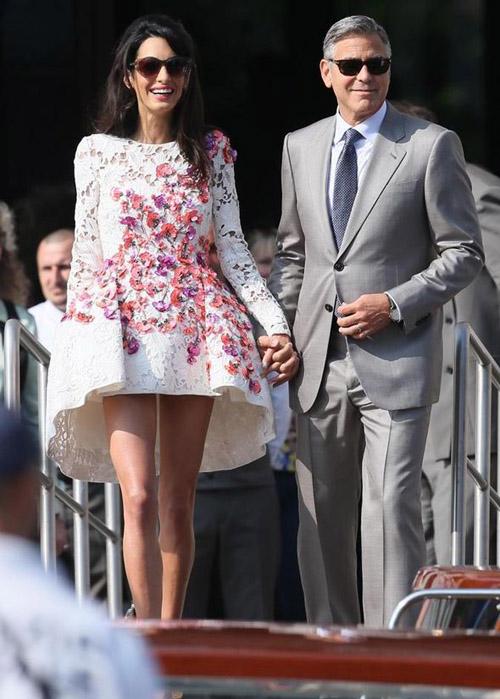 George Clooney lên xe hoa lần 2 cùng nữ luật sư Amal Alamuddin  5