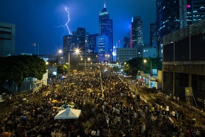 Biểu tình Hong Kong lại nóng lên trong ngày quốc khánh Trung Quốc 6