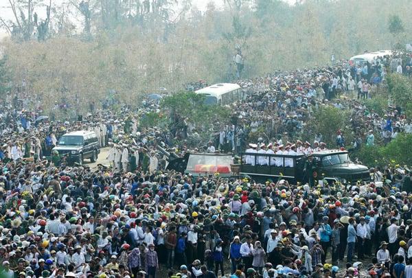 Hình ảnh xúc động trong lễ tang lịch sử của Đại tướng Võ Nguyên Giáp 15