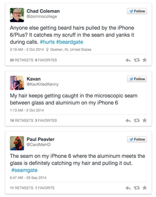 Nhiều người bị rụng râu, đứt tóc vì dùng iPhone 6 2