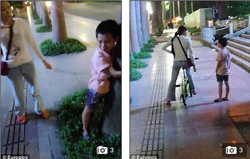 Mẹ đơn thân xích con trai vào xe đạp kéo lê về nhà 5