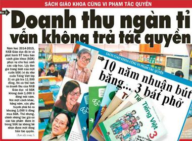 Vụ Sách giáo khoa vi phạm bản quyền: NXB Giáo dục chưa chấp nhận giá đưa ra 5
