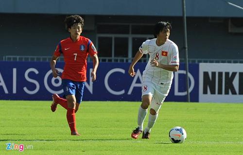 Kết quả tỷ số trận U19 Việt Nam vs U19 Hàn Quốc: 0-6 (hết giờ) 1