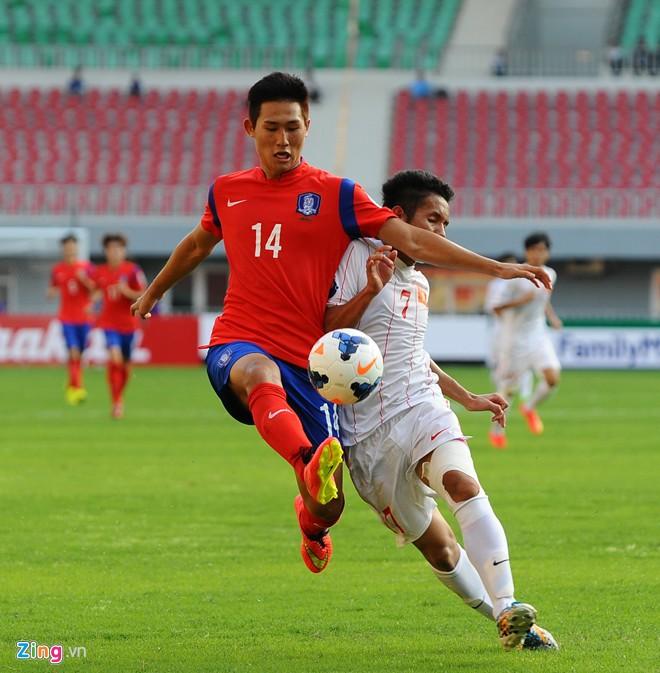 Hình ảnh Bão chấn thương đổ xuống U19 VN sau trận thua U19 Hàn Quốc số 1