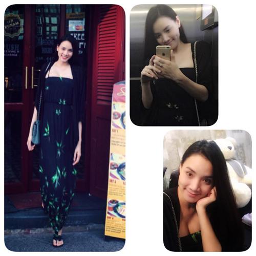Trang Nhung khéo dấu bụng bầu 2 tháng với váy rộng 8