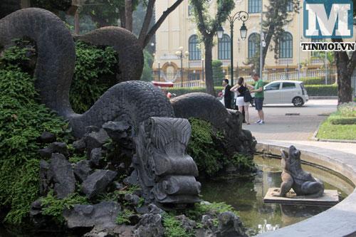 Cận cảnh hai đài phun nước hoành tráng nhất nhì Hà Nội 19